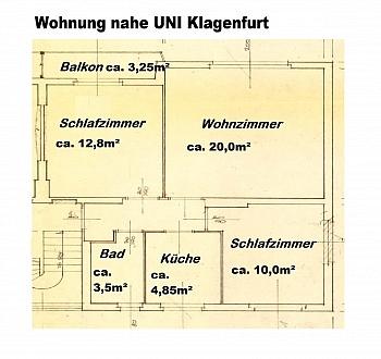 - UNI - Waidmannsdorf schöne, günstige 3 Zi-Whg.