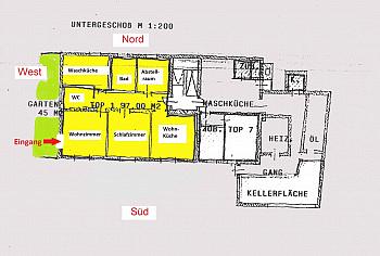 Ecke Plan  - Große 2 Zi Wohnung 97m² mit Garten - Waidmannsdorf