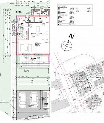 Autobahnauffahrt Ausgezeichneter Stiegenaufgang - Sehr hochwertige Doppelhaushälften in Lendorf