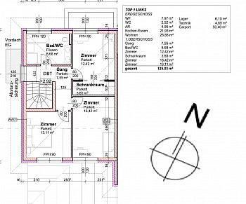 Außenflächen fertiggestellt Bauausführung - Sehr hochwertige Doppelhaushälften in Lendorf