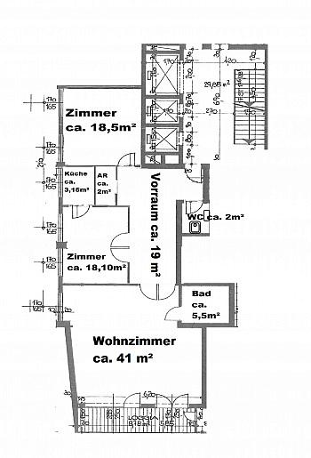 Gebrauchs sanierten Vorraum - Wohnen im neuen Rothauer Hochhaus