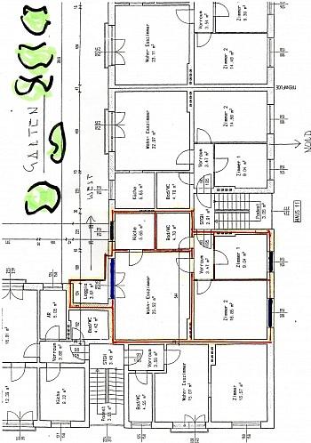 Decken Zimmer neues - Schöne sanierte 3 Zi Stadtwohnung mit Loggia