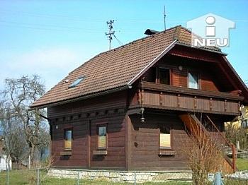 Wohneinheiten Schlafzimmer Grundstück - Schönes Holzhaus am Radweg - nähe Feldkirchen