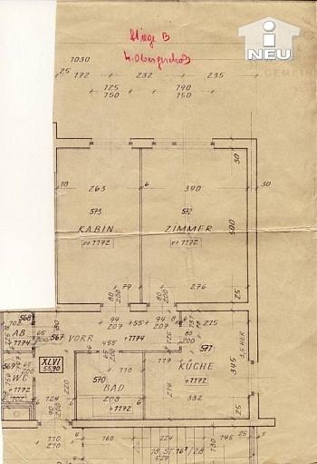 Südlage sonnige Fliesen - 2  Zi Wohnung 56m² - Nähe Ebentalerstrasse