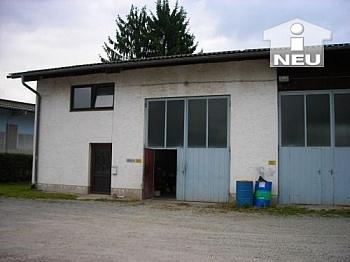 befestigter Erdgeschoss Busbahnhof - Lagerhalle mit Wohnung - Feldkirchen