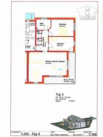 Betriebskosten Baubewilligtes Hausverwaltung - Kleinwohnanlage mit 5 Wohnungen in Klagenfurt