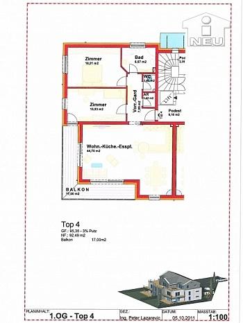 Wohneinheiten Ausführungen Fliesenböden - Kleinwohnanlage mit 5 Wohnungen in Klagenfurt