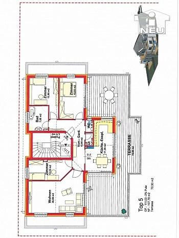 Baugenehmigt Finanzierung Gartenanteil - Kleinwohnanlage mit 5 Wohnungen in Klagenfurt