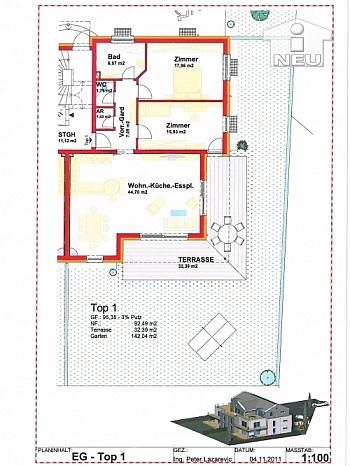 Penthousewohnung Waldmüllergasse PROVISIONSFREIER - Kleinwohnanlage mit 5 Wohnungen in Klagenfurt