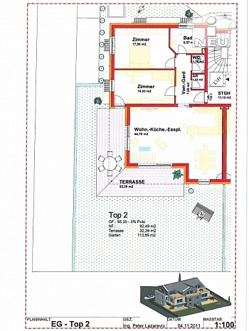 Kleinwohnanlage Flächenangaben fachverglasung - Kleinwohnanlage mit 5 Wohnungen in Klagenfurt