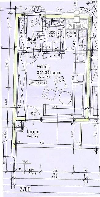 neuwertige Verwaltung Warmwasser - Neuwertige Garconniere 43 m² - in Viktring