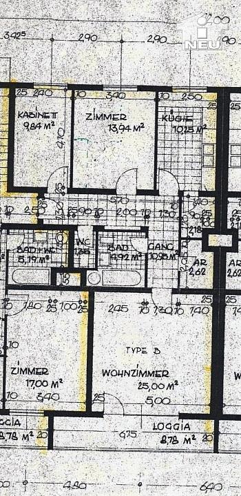erreichbar erneuerten Fernwärme - Helle 3-Zi-Wohnung in zentraler Lage
