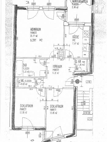 Zustand Vorraum Carport - Schöne helle 3 Zi Wohnung in Feschnig