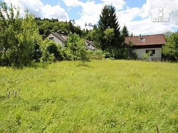 Zufahrtsstrasse Grundstück traumhafter - Günstiger schöner Baugrund  953m² in Ferlach
