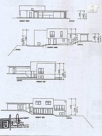 Design große Kamin - Neues, modernes Niedrigenergiehaus Nähe Feldkirchen