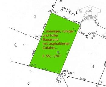 asphaltierter Wohngegend Baugrund - Toller Baugrund in Karnburg-Maria Saal